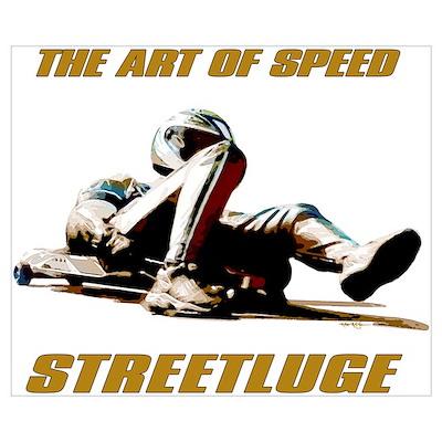 streetluge art of speed racing . Poster