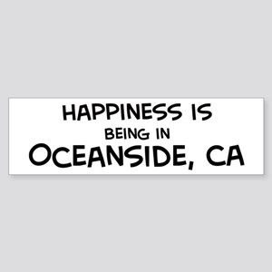 Happiness is Oceanside Bumper Sticker