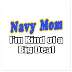 """Navy Mom...Big Deal"" Canvas Art"