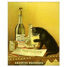 Absinthe Bourgeois Chat Noir Canvas Art
