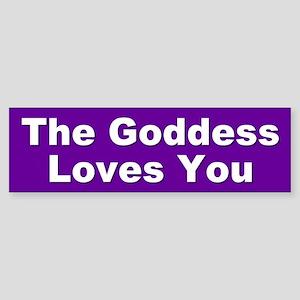 goddess loves... Bumper Sticker