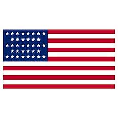 36 Star US Flag Poster