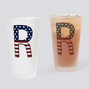 R Stars and Stripes Drinking Glass