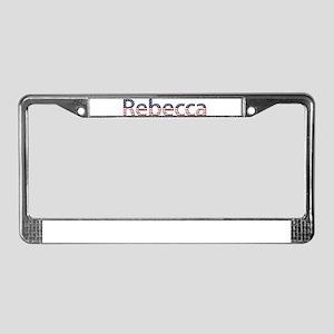 Rebecca Stars and Stripes License Plate Frame