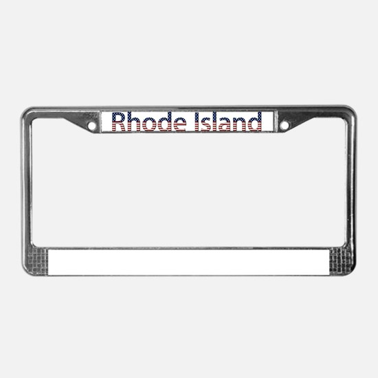 Rhode Island Stars and Stripe License Plate Frame