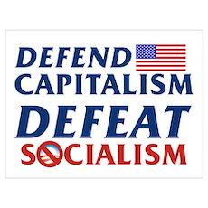 Defend Capitalism, Defeat Socialism Poster