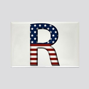 R Stars and Stripes Rectangle Magnet