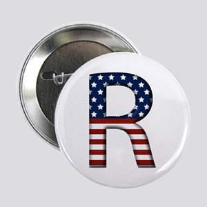 R Stars and Stripes Button