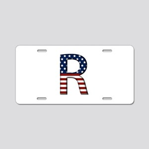 R Stars and Stripes Aluminum License Plate