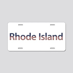 Rhode Island Stars and Stripes Aluminum License Pl
