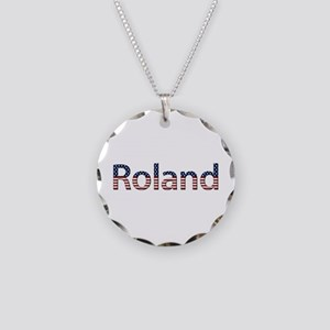 Roland Stars and Stripes Necklace Circle Charm