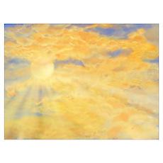 Blue & Orange Skies Poster