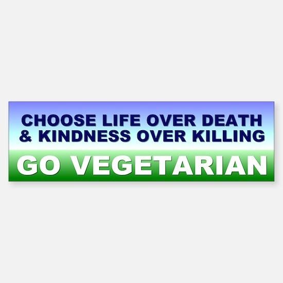 vegetarian... Bumper Bumper Bumper Sticker
