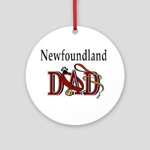 Newfoundland Dad Ornament (Round)