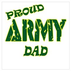 PROUD ARMY DAD Canvas Art
