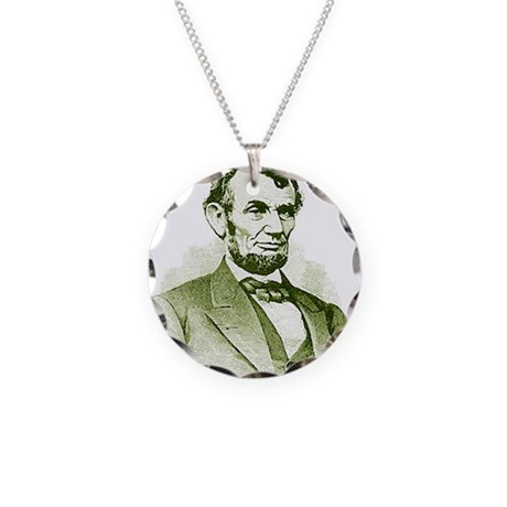 Abe Lincoln Necklace Circle Charm