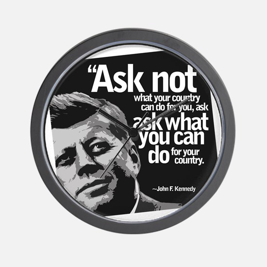Ask Not What Your Country Can Do For Wall Clock