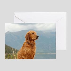 Golden Retriever Lake Greeting Card
