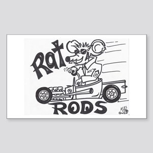 ratrod hotrod Rectangle Sticker