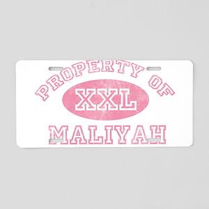 Property of Maliyah Aluminum License Plate