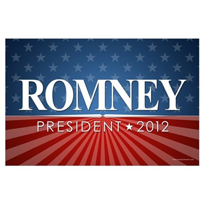 ROMNEY - Stars and Stripes Poster