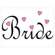 Bride (Pink Hearts) Poster