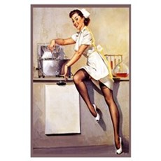 Elvgren Vintage Nurse Poster