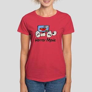 Scrambled Eggs Horror Movie Women's Dark T-Shirt