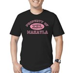 Property of Makayla Men's Fitted T-Shirt (dark)