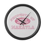 Property of Makayla Large Wall Clock