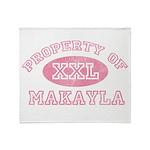 Property of Makayla Throw Blanket