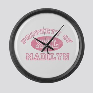 Property of Madilyn Large Wall Clock