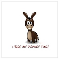 Donkey Time Framed Print