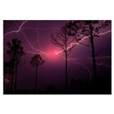 Thunder and lightning Framed Prints