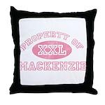 Property of Mackenzie Throw Pillow