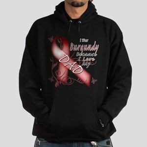 I Wear Burgundy Becase I Love Hoodie (dark)