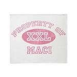 Property of Maci Throw Blanket