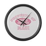 Property of Maci Large Wall Clock