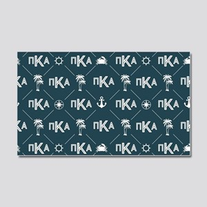 PKA Blue Pattern Car Magnet 20 x 12