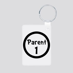 Parent 1 Aluminum Photo Keychain