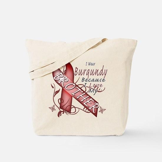I Wear Burgundy Becase I Love Tote Bag