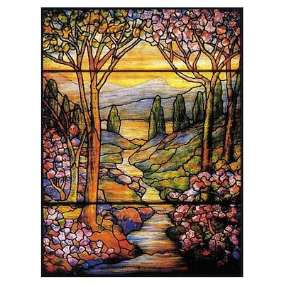 Tiffany Landscape Poster