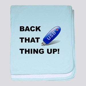 Back That Thing Up USB baby blanket