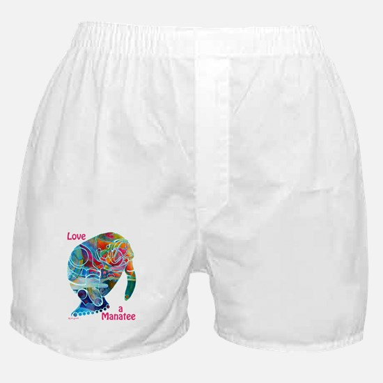 Manatees in Many Colors Boxer Shorts