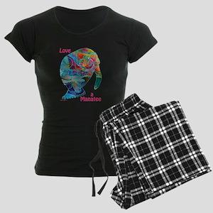 Manatees of Many Colors Women's Dark Pajamas