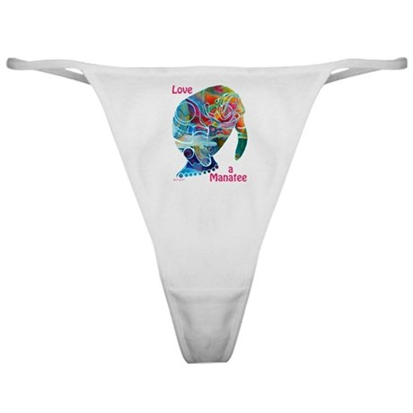 Manatees in Many Colors Classic Thong