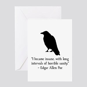 Edgar Allen Poe Quote Greeting Card