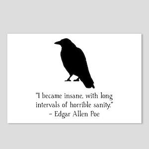 Edgar Allen Poe Quote Postcards (Package of 8)