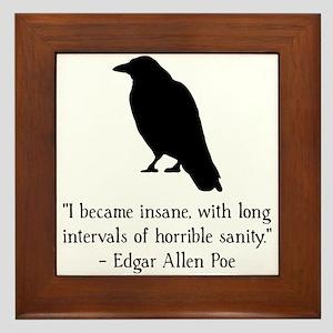 Edgar Allen Poe Quote Framed Tile