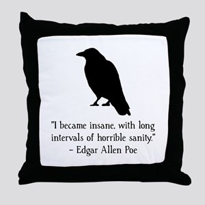 Edgar Allen Poe Quote Throw Pillow